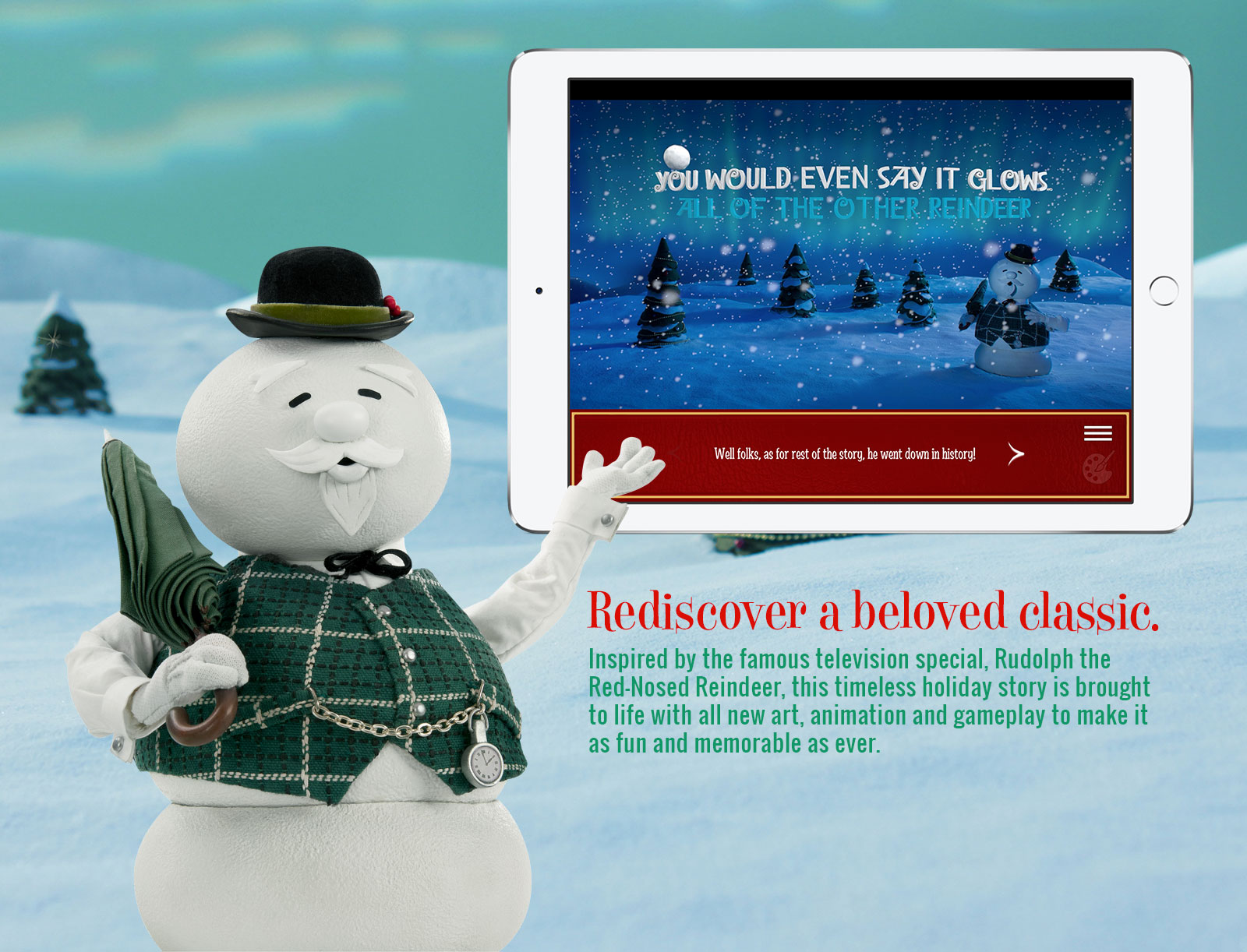 Rudolph Story Book App